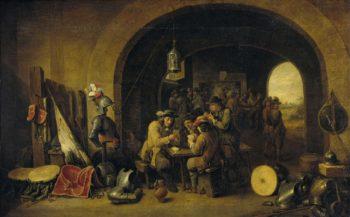 Soldiers Wait. 1641 | David Teniers (II) | oil painting