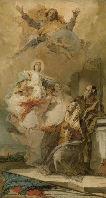 The Immaculate Conception (God Sends the Virgin Mary to Joachim and Anne). ca. 1757 - ca. 1759 | Giovanni Battista Tiepolo | oil painting