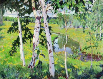 Landscape with River | Arkady Rylov | oil painting