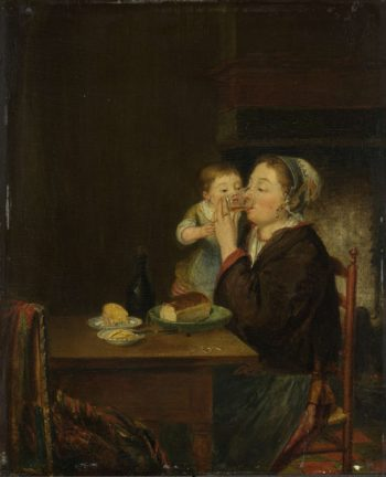 A mother with her child. 1794 | Louis Bernard Coclers | oil painting