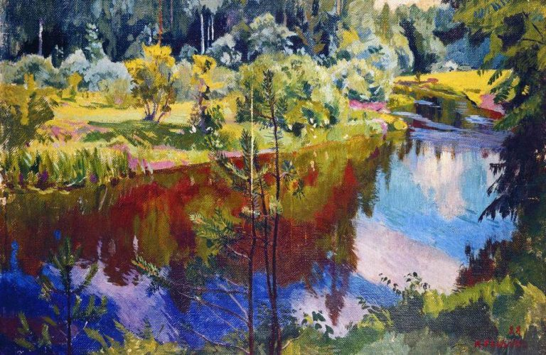 Red Reflections | Arkady Rylov | oil painting