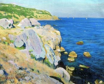 Rocks in Kekeneiz | Arkady Rylov | oil painting