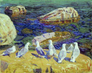 Seagulls | Arkady Rylov | oil painting