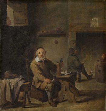 The old beer drinker. 1640 - 1660 | David Teniers (II) | oil painting