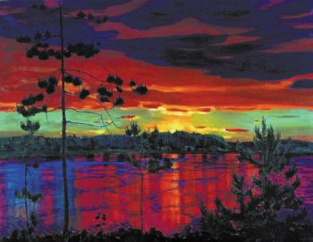 Sunset | Arkady Rylov | oil painting