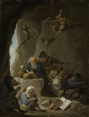 The Temptation of Saint Anthony the Hermit. 1640 - 1660 | David Teniers (II) | oil painting