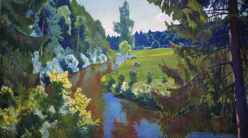 The Green Banks | Arkady Rylov | oil painting