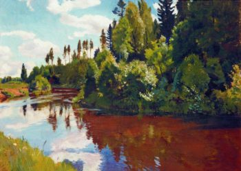 The Mouth of the Orlinka River | Arkady Rylov | oil painting