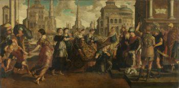 Solomon and the Queen of Sheba. ca. 1540 - ca. 1545 | Jan van Scorel | oil painting