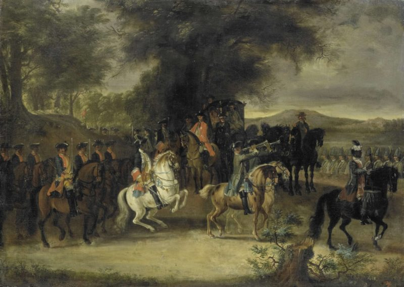 Inspection of a cavalry regiment
