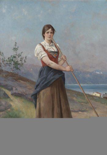 The Farm Girl | Axel Hjalmar Ender | oil painting