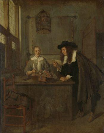 The Reader.. 1650 - 1668 | Quiringh Gerritsz. van Brekelenkam | oil painting