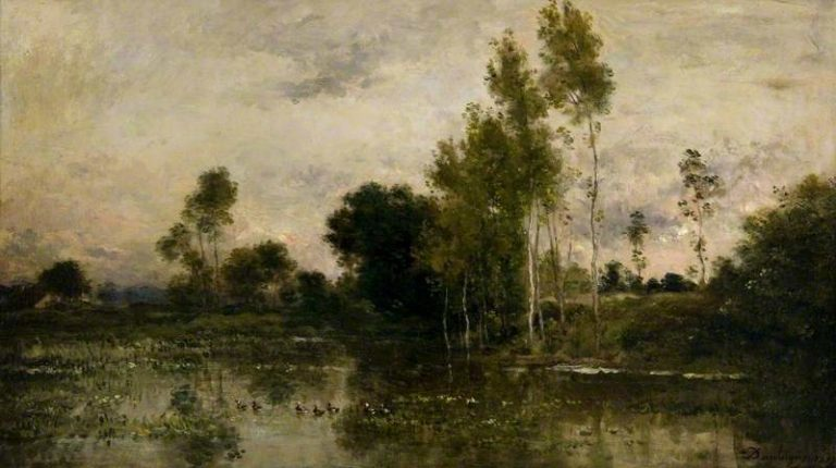 Lake with Ducks | Charles Francois Daubigny | oil painting