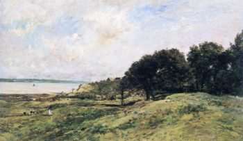 The Coast at Villerville | Charles Francois Daubigny | oil painting