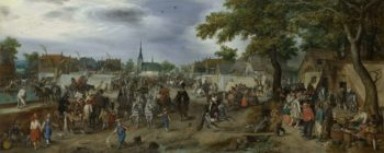 Prince Maurice and Frederick Henry at the Valkenburg Horse Fair. 1618 | Adriaen Pietersz. van de Venne | oil painting