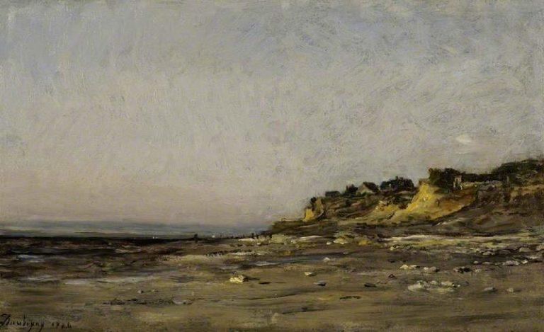 Villerville Normandy   Charles Francois Daubigny   oil painting