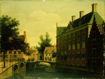 The Old Men Zijds Logement Amsterdam.. 1660 - 1680 | Gerrit Adriaensz. Berckheyde | oil painting