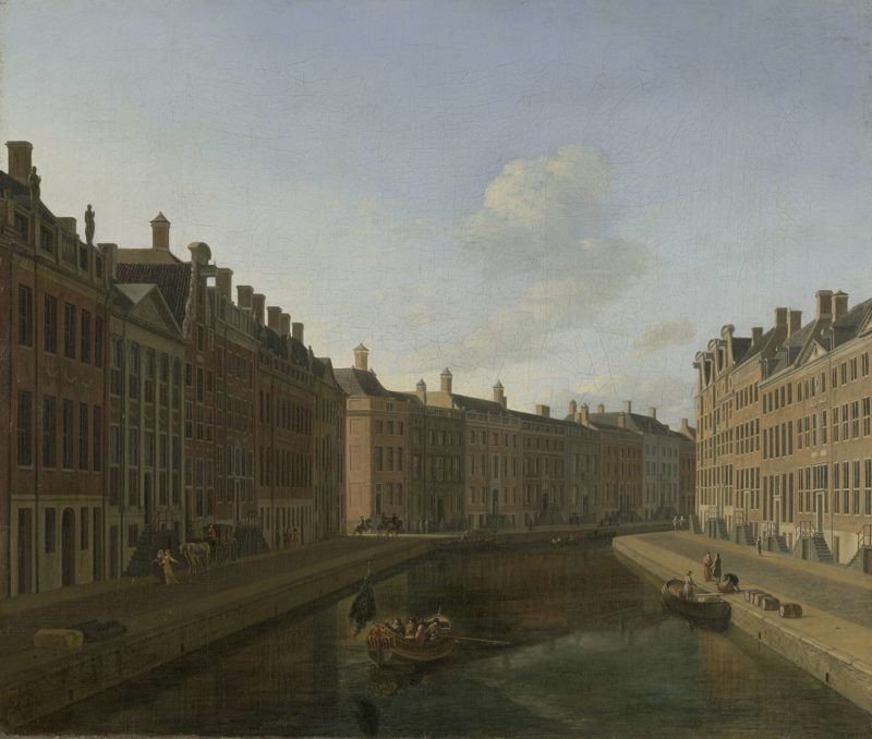 View of the Golden Bend in the Herengracht from the east. 1685   Gerrit Adriaensz. Berckheyde   oil painting