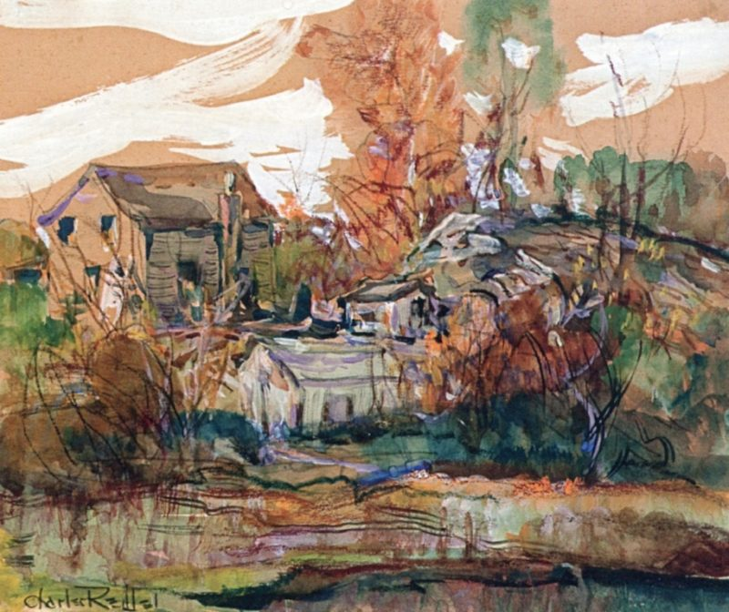 House at Silvermine | Charles Reiffel | oil painting