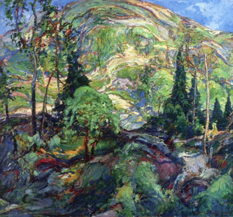 In the Hills   Charles Reiffel   oil painting