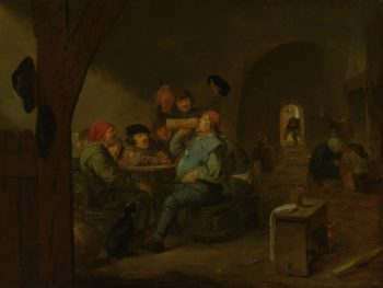 The master drank. 1620 - 1700   Adriaen Brouwer   oil painting