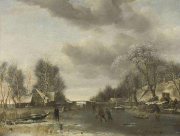 Winter Face. ca. 1652 - ca. 1653 | Jan van de Cappelle | oil painting