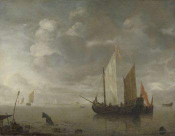 Calm sea. 1650 - 1676 | Hendrick Jacobsz. Dubbels | oil painting