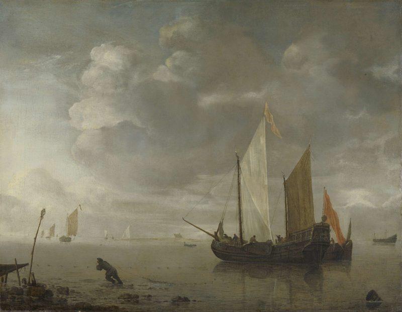 Calm sea. 1650 - 1676 | Hendrick Jacobsz. Dubbels | oil painting