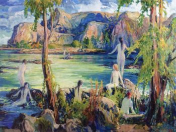 Nymphs of the Sea | Charles Reiffel | oil painting