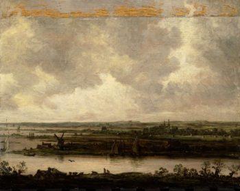 Vista on the Spaarne and Haarlemmermeer. in or after 1644 | Jan van Goyen | oil painting