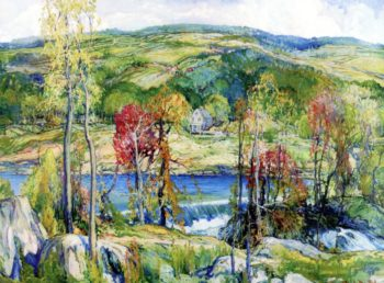 River Landscape | Charles Reiffel | oil painting