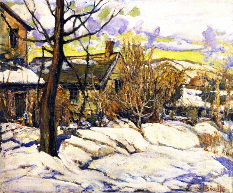 Silvermine Snow Scene   Charles Reiffel   oil painting