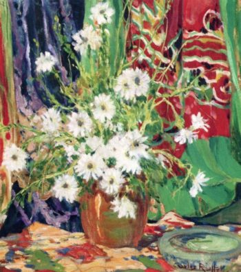 Still Life Daisies | Charles Reiffel | oil painting