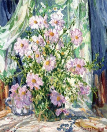 Still LIfe with Cosmos | Charles Reiffel | oil painting