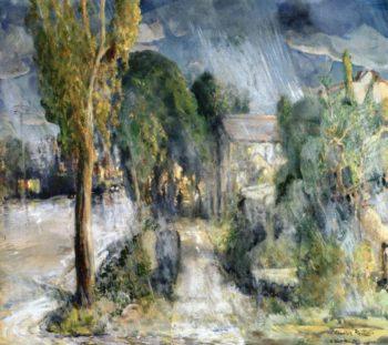Still The Street at Night San Diego | Charles Reiffel | oil painting