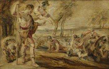 Cadmus sowing dragon's teeth. 1610 - 1690 | Peter Paul Rubens | oil painting