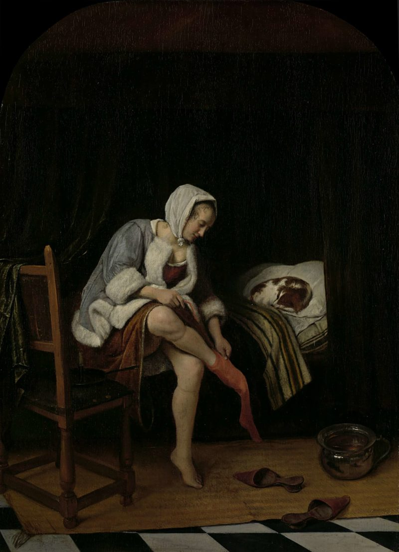 Woman at her Toilet. 1655 - 1660 | Jan Havicksz. Steen | oil painting