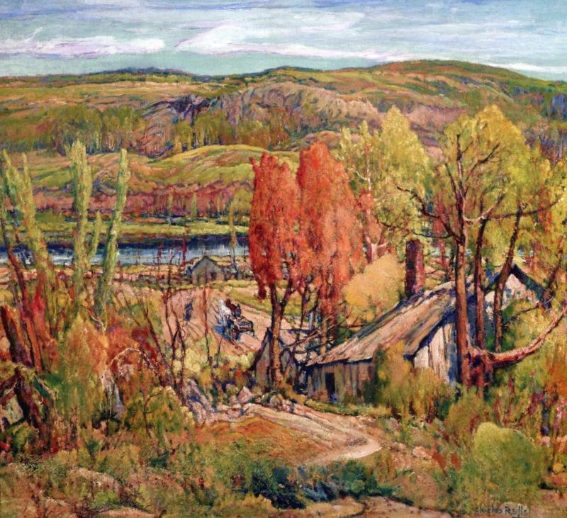 The Old Farm | Charles Reiffel | oil painting