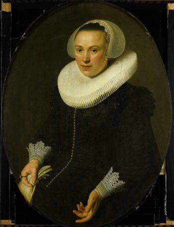 Portrait of Maria Joachimsdr Swart Hont (1598-1631). 1627 | Nicolaes Eliasz. Pickenoy | oil painting