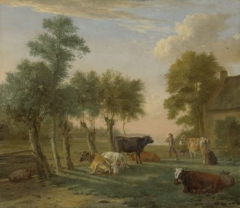 Cows in a Meadow near a Farm. 1653 | Paulus Potter | oil painting