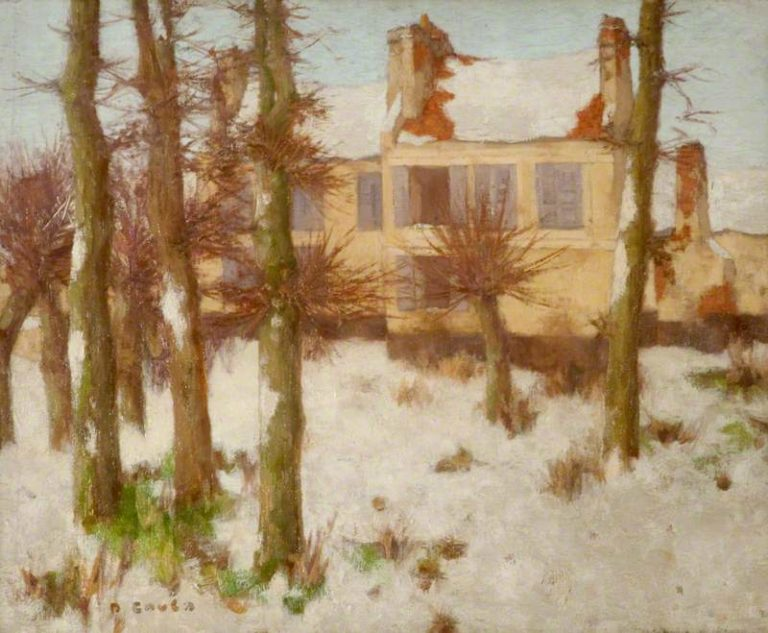 The Ramparts of Montreuil sur Mer in Snow | David Gauld | oil painting