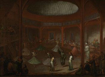 Whirling Dervishes. ca. 1720 - ca. 1737 | Jean Baptiste Vanmour | oil painting