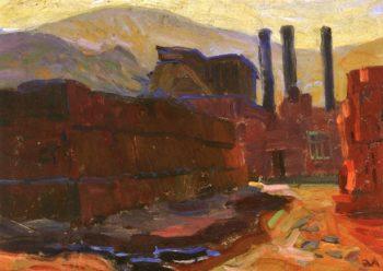 Brick Yard | Edouard Vysekal | oil painting