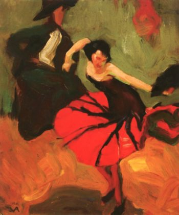 Elizabeth Dances | Edouard Vysekal | oil painting
