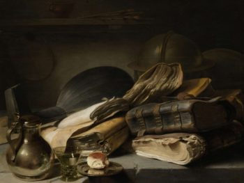 Still Life with Books. ca. 1627 - ca. 1628 | Jan Lievens | oil painting