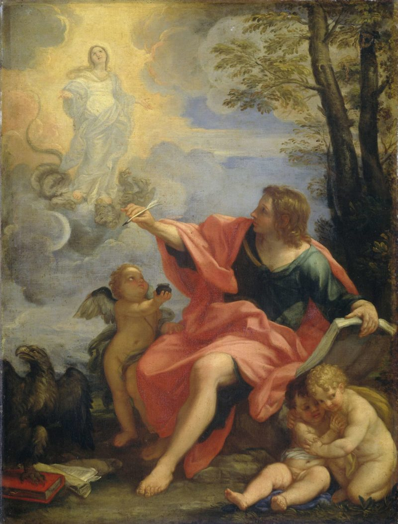 John the Evangelist on Patmos. ca. 1680 - ca. 1720 | Carlo Maratti | oil painting