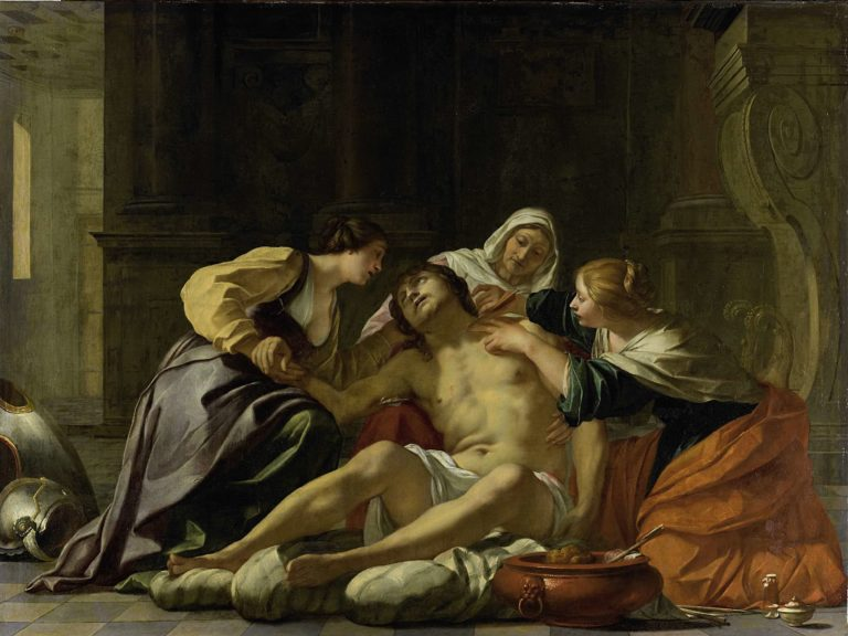 The St. Sebastian provided by Irene and her helpers. 1630 - 1638 | Jacques Blanchard | oil painting