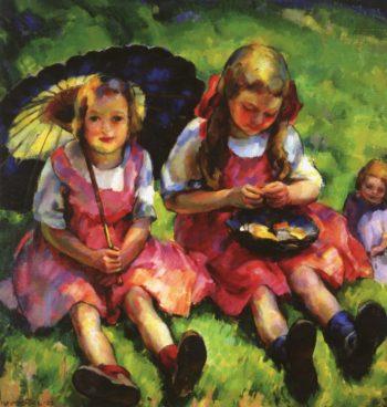 Mayhew Children | Edouard Vysekal | oil painting