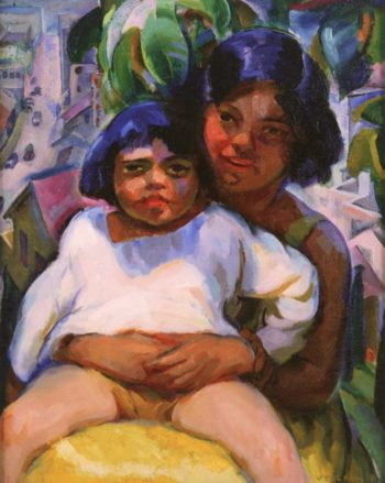 Mexican Children | Edouard Vysekal | oil painting
