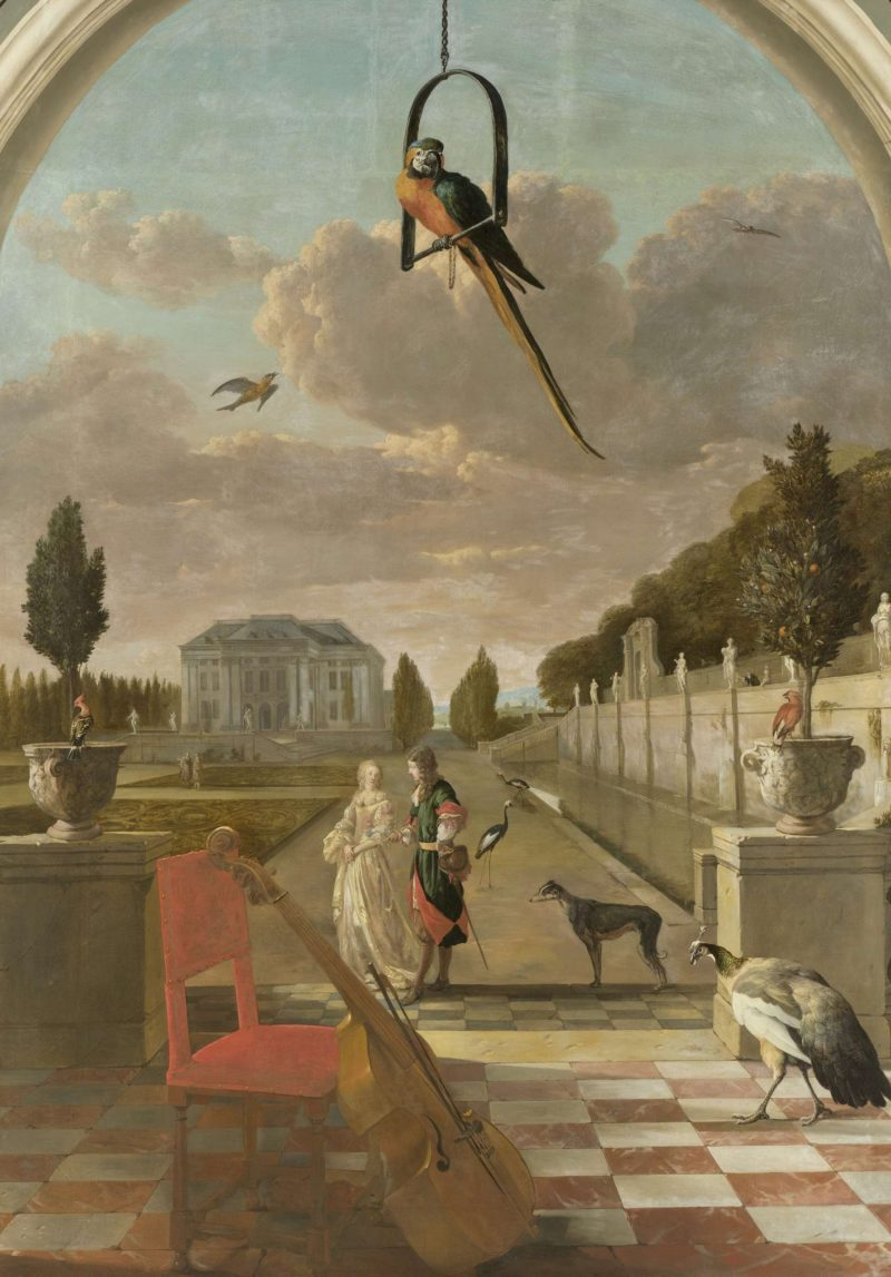 Park with country. 1670 - 1719   Jan Weenix   oil painting